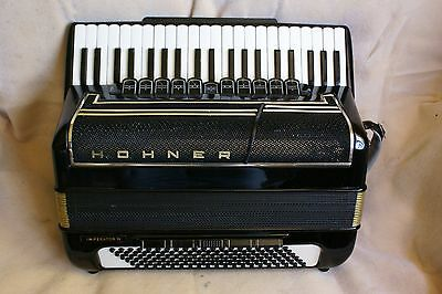 """Nice HOHNER """"IMPERATOR IV """"accordion/accordian! 4 reed sets!Double Tone Chamber!"""