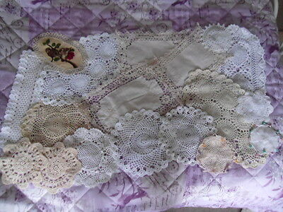 Job Lot of Vintage Doilies/Mats. Embroidery.Lace.Crochet.