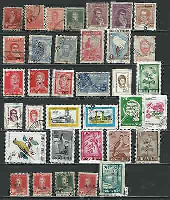 #7552 ARGENTINA Lot of Older Issues mostly Used