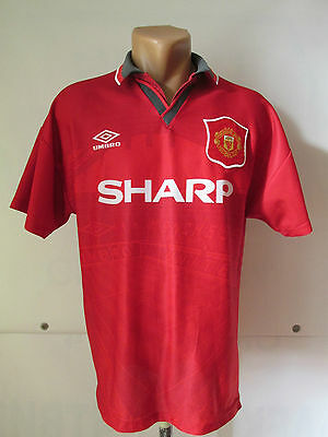 Manchester United England 1994/1995/1996 Home Football Shirt Jersey Umbro Size M