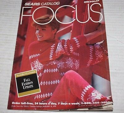 Sears Catalog Focus 1990/1991 Fashion Lingerie Shoes