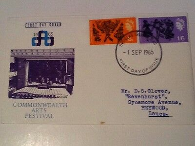 GB1966 Commonwealth Games on official fdc cancelled FDI DouglasIOM