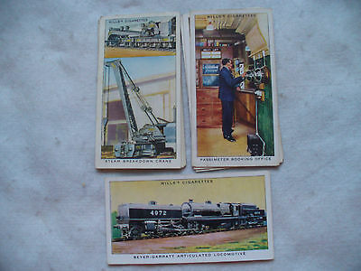 Cigarette Cards Wills Railway Equipment Full Set