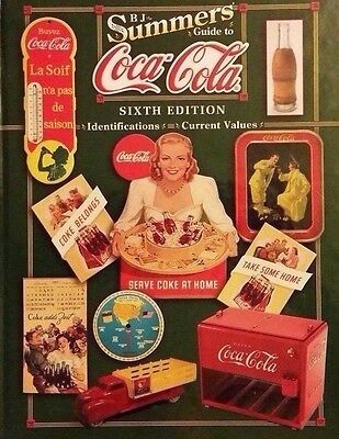 COCA-COLA VALUE GUIDE COLLECTOR'S ID BOOK coke can bottle sign calender cooler++