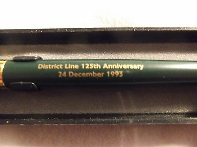 District Line 125th Anniversary pen in display case