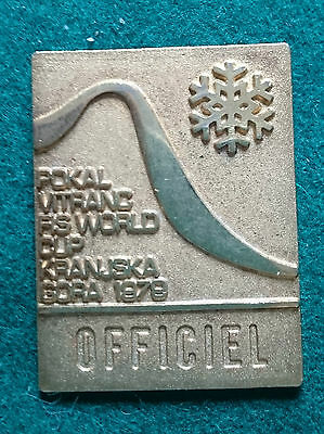 "FIS 1979 World Cup Ski Race ""Official"" pin badge"