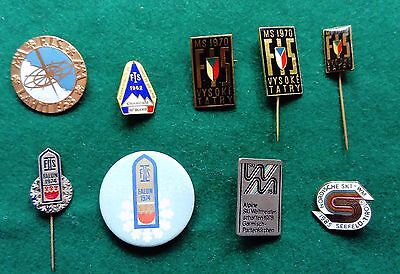 FIS World Ski Championship 9 pin badges