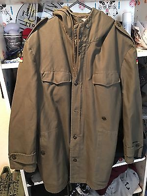 Army Issue Green Parka Coat Size L XL Top Condition