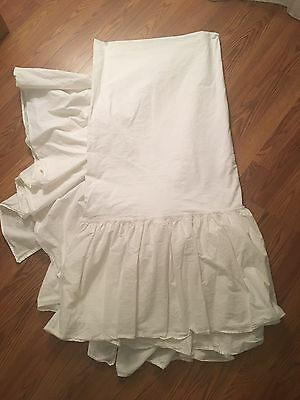 """Simply Shabby Chic Target White Queen Ruffled Bedskirt Dust Ruffle 15"""" Drop"""