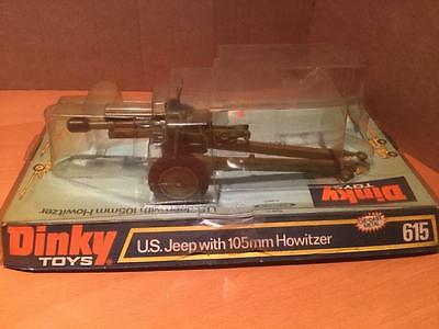Dinky Military Toys 615 US Jeep (missing) with 105mm Howitzer NMIB