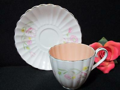 English 'susie Cooper ' Bone China Teacup & Saucer Set Signed
