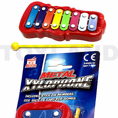 Kids Colourful Metal Xylophone Music Instrument Toy Christmas Stocking Filler