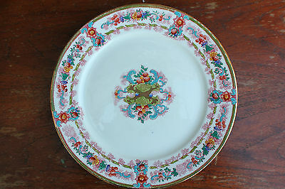 Stunning Antique Plate Royal Stafford Display Plate 26cm Gilded Edge Flowers