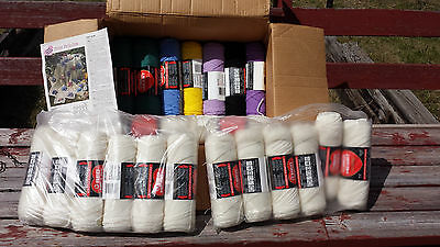 Pansy Perfection Afghan Crochet Kit New w/ Instructions & Red Heart Yarn