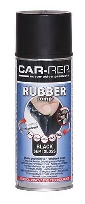 BLACK SEMI GLOSS Rubber-comp Rubber Paint Spray Film Removable Plastic dip400ml