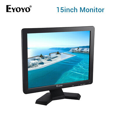 "US! 15"" TFT LCD HD 1024*768 Monitor HDMI VGA AV BNC Input For CCTV Security DVD"