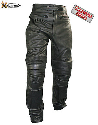 Xelement Men's Armored Cowhide Leather Racing Pants