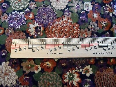 ANTIQUE COTTON-SILK VELVET REMNANT  for FRENCH FASHION-GERMAN BISQUE-CHINA DOLL