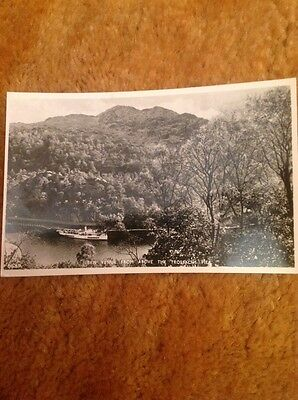 Vintage Postcard 1950'S Scotland Ben Venue Above Trossachs Pier