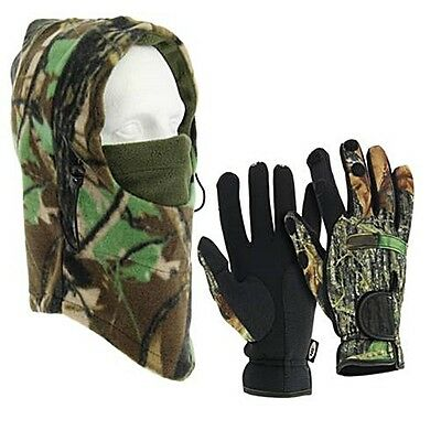 Ngt Fishing Neoprene Gloves And Snood Hat Carp Fishing Folding Fingers