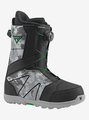 2017 Burton Highline Boa Mens Snowboard Boot Black/gray Size 7