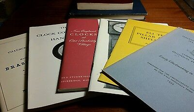 Vintage lot of horology clock making collecting history books terry gibbs Becker