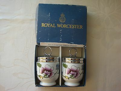 Pair of Royal Worcester Egg Coddlers Astley- Boxed
