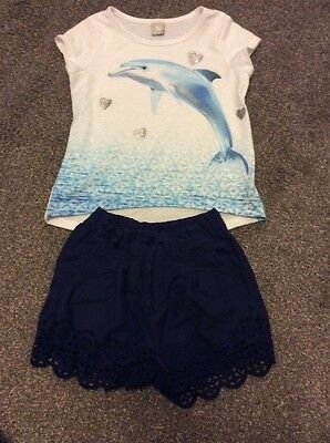 Girls Two Piece Outfit Shorts And T-shirt Age 3 TU Clothing
