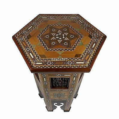 Handcrafted Egyptian Moroccan Moroccan Mother of Pearl Table