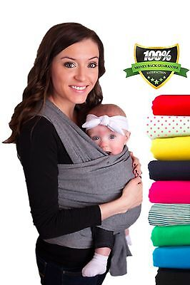 CuddleBug Baby Wrap Carrier | Soft Baby Carrier | Baby Sling Carrier | Baby Gift