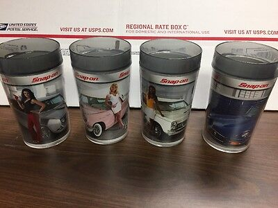 Set Of Four Snap On Tools Insulated Mugs Jan 07 - April 07