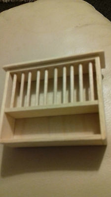 Dolls House New Kitchen Plate Rack
