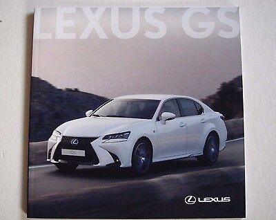 Lexus . GS . February 2016 Sales Brochure