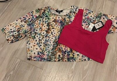 New look girls Crop Tops aged 14-15 years BNWT