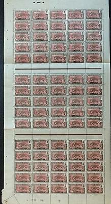 CAMEROON: French Occupation 2c Full Sheet of 75 Stamps in Blocks of 25 (6117)
