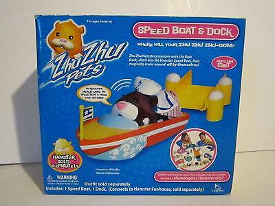 Zhu Zhu Pets Speed Boat and Dock Collect & Connect To City