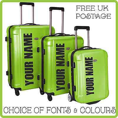 Personalised Stickers For Hard Suitcase or Trunk Anti Theft See Case at Distance