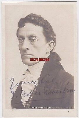 Stage actor J. Forbes Robertson in costume. Signed postcard
