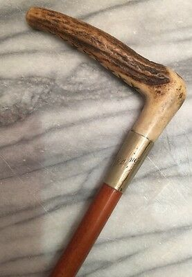 "Ladies Swaine Hunt Whip ex Condition Engraved ""Diane"""