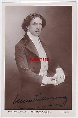 Stage actor Martin Harvey in The Corsican Brothers. Signed postcard