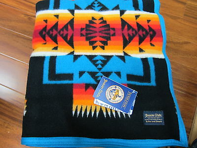 Pendleton Chief Joseph Collection Blanket Black 64x80 Made in USA!!