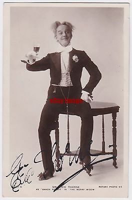 Stage actor Eric Thorne in The Merry Widow. Signed postcard
