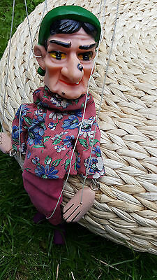 ** Sale price ** Spooky & quirky vintage puppet witch1960's