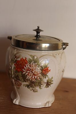 vintage ceramic biscuit barrel
