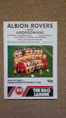 Albion Rovers V Airdrieonians 1989/90