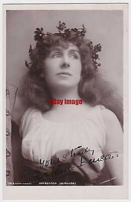 Stage actress Constance Benson as Miranda. Signed postcard