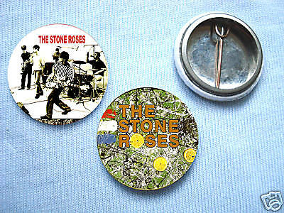 Stone Roses - 2 Badge Set Ian Brown Oasis Manchester