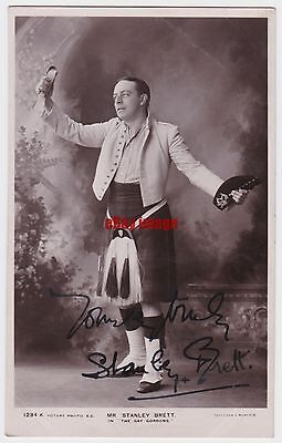 Stage actor Stanley Brett in The Gay Gordons. Signed postcard