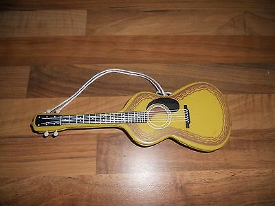 Vintage Retro Clothes Brush, Guitar Shape Made In Hong Kong