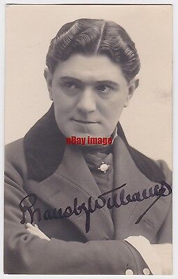 Stage actor and comedian Bransby Williams. Signed postcard
